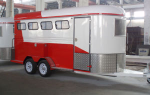 Gw 4horse Trailers Horse Float with Different Color (GW-4HAL) pictures & photos