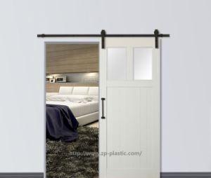 Interior PVC Foam Sliding Barn Doors For Bathroom Closet Bedroom Door