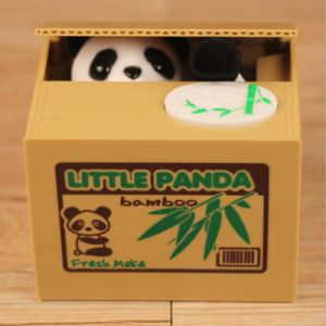 Creative Panda Style Kids Toy Automatic Stole Coin Piggy Bank pictures & photos