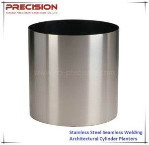High Quality Seamless Welding Stainless Steel Cylinder Architectural Planter Pot Vase