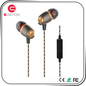 Metal Wired Earphone 3.5mm Jack Earbuds with Custom Package