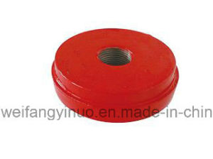 FM UL Ce Ductile Iron Grooved Cap with Concentric Hole pictures & photos