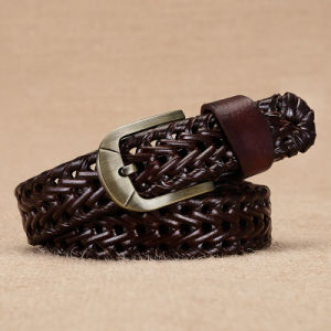 High Quality Braided Belt with Alloy Pin Buckle Fashion Accessories