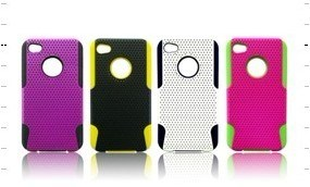 2 in 1 Case Mesh Combo Silicone Case for Black Berry Samsung Salaxy S2 I9100 Various Colorful PC Cover