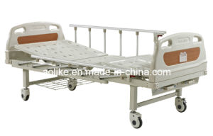 Two Crank Manual Hospital Bed (ALK06-A232P) pictures & photos