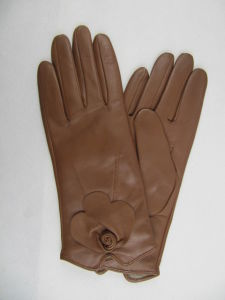 Lady Fashion Leather Gloves (JYG-23003) pictures & photos