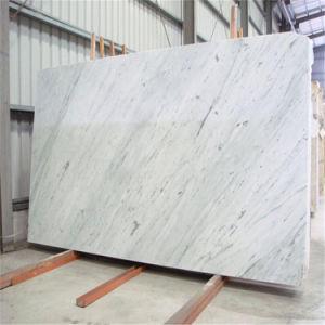 Italian White Carrara Marble Polished Floor Tiles