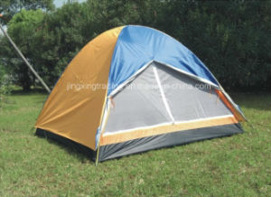 180t Double-Skin 100% Polyester Camping Tent for 3 Persons (JX-CT004) pictures & photos