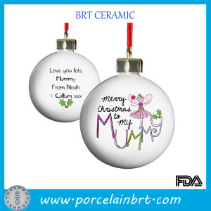 Custom Cearmic Christmas Gift Hanging Ball pictures & photos