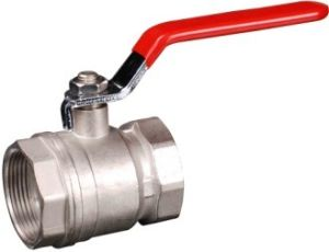 Forging Nickel Plated Brass Ball Valve with Steel Handle (YED-A1001)
