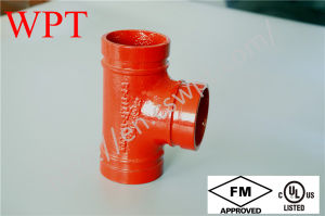 FM/UL High Pressure Grooved Equal Tee for Fire Protection