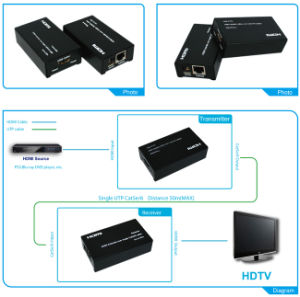 HDMI Cable Extender 50m HDMI Extender Over Single UTP Cable (HDMI Extender HE09)