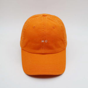 50a04a080a1 China Custom Unisex Women 100% Cotton Orange Baseball Dad Cap with ...