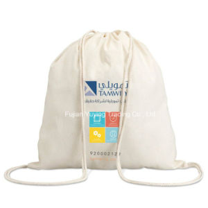 Promotional Reusable 100% Organic Drawstring Cotton Bag (CBG038)