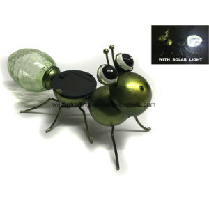 New Solar Lighted Metal and Glass Ant Garden Decoration