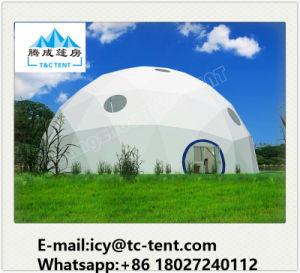 5-30m Aluminum Structure Geodesic Dome Tent with Colorful PVC Fabric