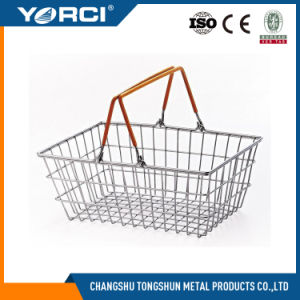 Supermarket Wire Handle Shopping Basket pictures & photos