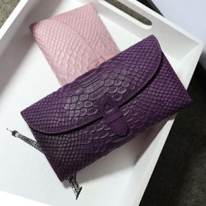 High Quality Snake Grain Leather Wallet for Lady Al318 pictures & photos
