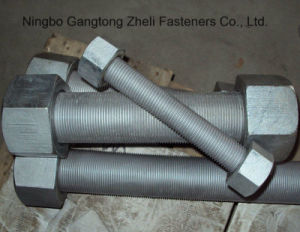 A193 B7 Heavy Hex Nuts Stud Bolts with Zinc Plated pictures & photos