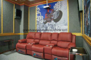 Movie Chair Home Cinema Seating Theatre Leather Sofa with Cupholder pictures & photos