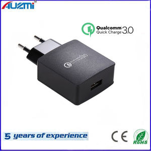 EU/Us Socket Single Port QC3.0 Quick Charger for Mobile Phone