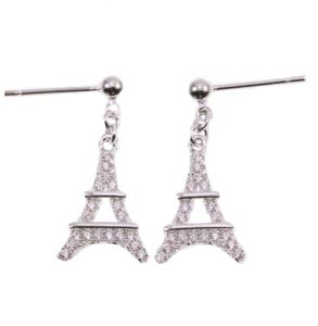 Hot 925 Sterling Silver Earrings Jewelry, Eiffel Tower, Jewelry Manufacture (KE3126) pictures & photos