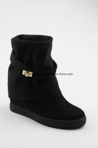 New Fashion Wedge Design Women High Heel Boots pictures & photos