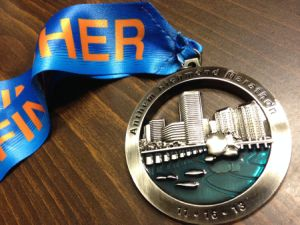 Running and Swim Award Medallions with Heat Transfer Printed Ribbon pictures & photos