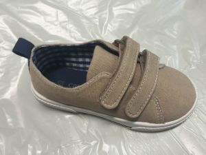 Children′s Fashion Canvas Upper Injection Shoe with TPR Outsole