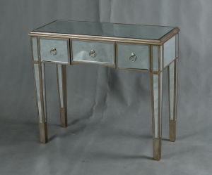 Curved Mirrored Console Table Mirrored Furniture