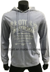 New Design Comfortable Slub Cotton Hoody for Men with Garment Dye pictures & photos