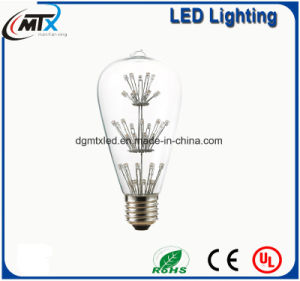 MTX Wholesale-Colorful LED Bulbs Edison Light Bulb Creative Tree/Baby′s Breath Vintage ST64 E27 LED bulb pictures & photos