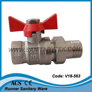 Brass Ball Valve with Pipe Union (V18-008) pictures & photos