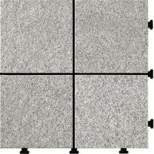 Easy To Install Granite Nature Stone Tile Interlocking Floor For Garden