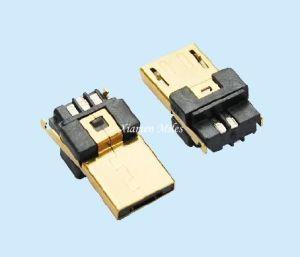 Micro USB Connector with 5p Male a Type Soldering