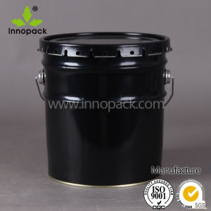 10L Black Paint Metal Bucket with Flower Lid and Handle pictures & photos