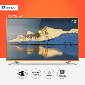 40-Inch Cheap Price LED 1080P Smart HD Television with Aluminium Alloy Fram Cp40we-W8