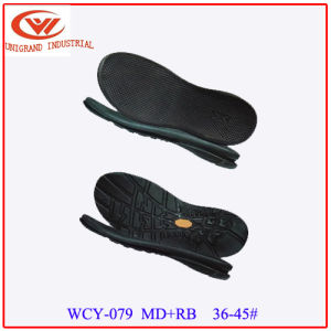 Hot Sale Summer Sandals Outsole Outdoor Beach Sole with EVA and Rb Material pictures & photos