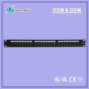 UTP Cat5e Dual IDC 24 Port Back Bar Patch Panel pictures & photos