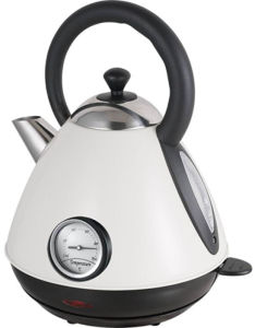 Stainless Steel Cordless Pyramid Electric Kettle with Thermometer Sb-3019nt pictures & photos