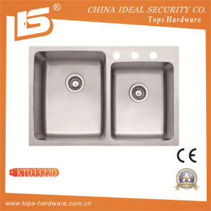 304 Double Bowl Stainless Steel Kitchen Sink of (Ktd3322D) pictures & photos