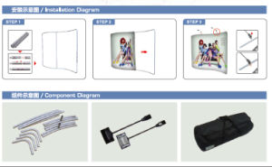 Portable Tension Fabric Banner Stand with Single Side Printing pictures & photos