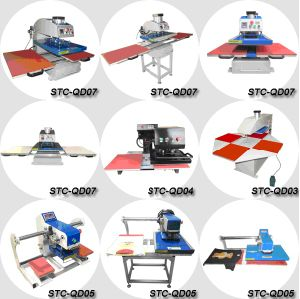 Automatic Pneumatic Double Station T Shirt Printing Machine for Sale pictures & photos