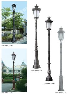 4m Cast Iron Garden Lighting Pole With LED Light