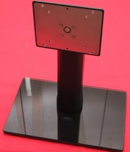Tilt/Pivot/Elevation/Swivel /Adjustable Glass Monitor Stand