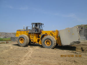 40tons Granite Block Fork Lift Loader Used in India
