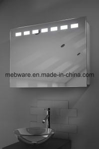 Sliding Mirror Door Bathroom Cabinet / Bathroom Mirror Cabinet with Light