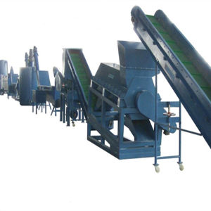 Waste Plastic Pet Crushing Washing Recycling Production Machine