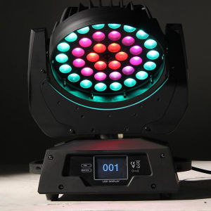 36PCS18W Rgbwua LED Wash Moving Head Light With Zooming And Ring Effect OEM