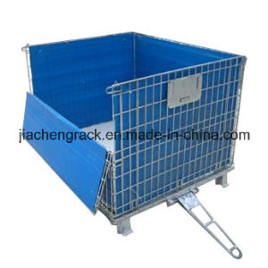 Industrial Stackable and Foldable Storage Warehouse Steel Cage pictures & photos